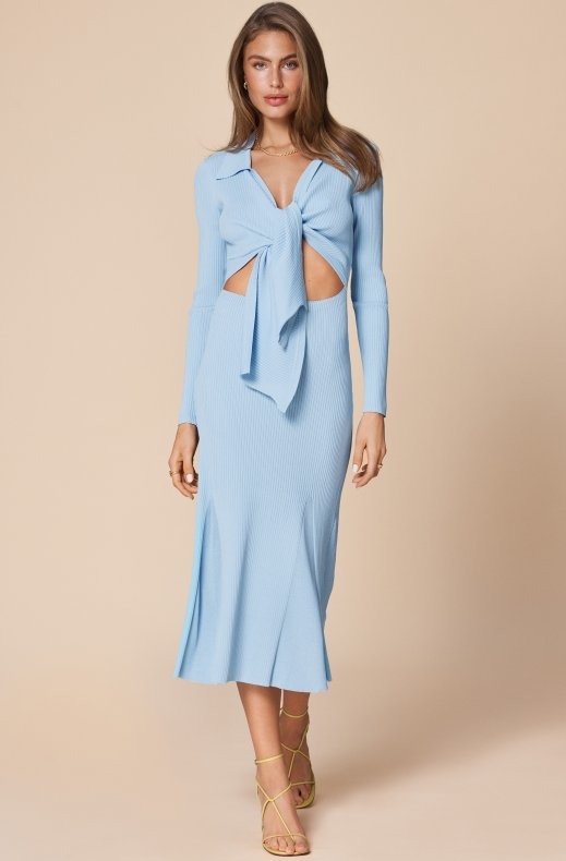 Adoore - Knitted Riviera Dress - Blue