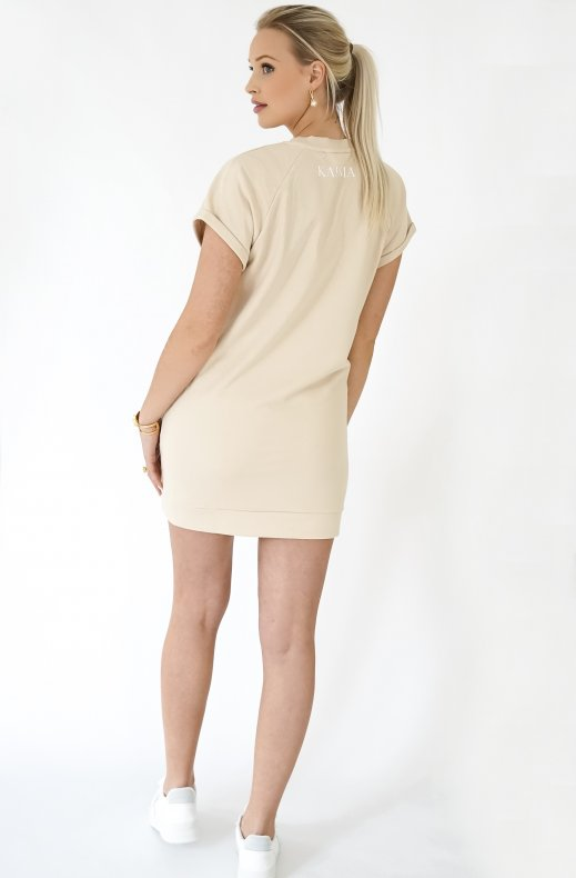 Blond Hour - Karma Sweatshirt Dress - Beige