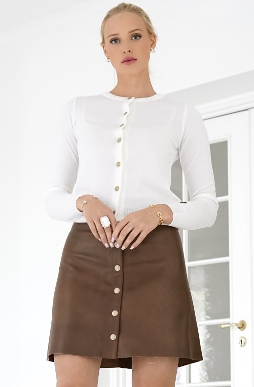 BUSNEL – ALIA LEATHER SKIRT CINNAMON