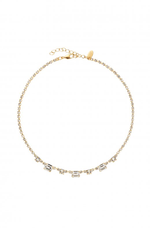 Caroline Svedbom - Corinna Necklace - Gold Crystal
