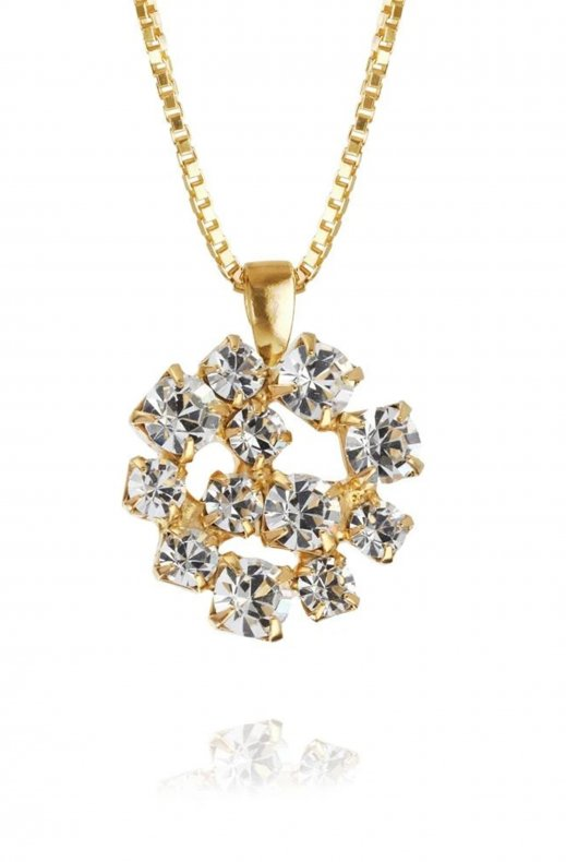 Caroline Svedbom - Kassandra Necklace Gold Crystal