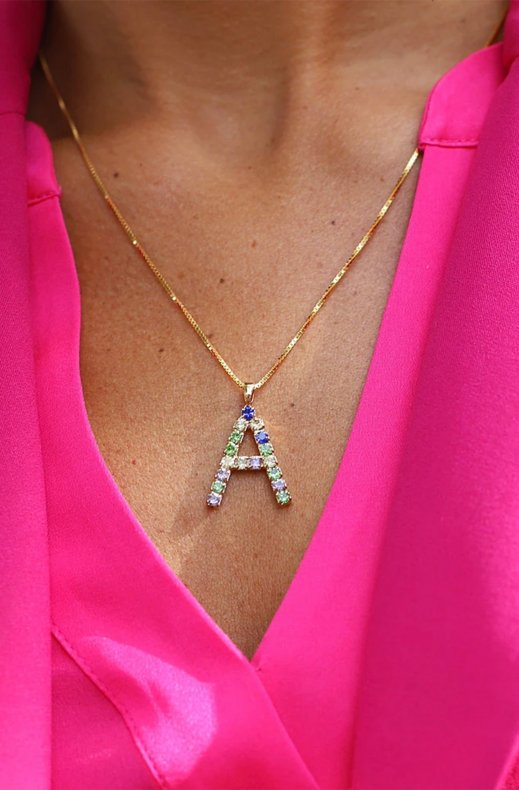 CAROLINE SVEDBOM - LETTER NECKLACE GOLD A 50 CM