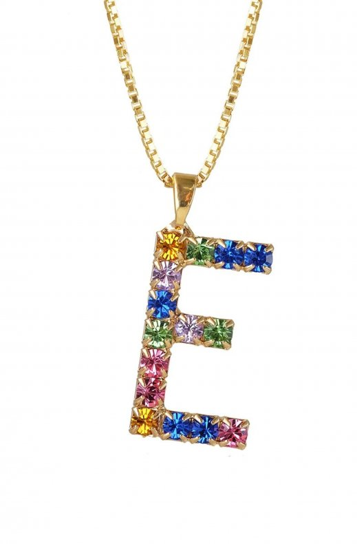CAROLINE SVEDBOM - LETTER NECKLACE GOLD E 50 CM