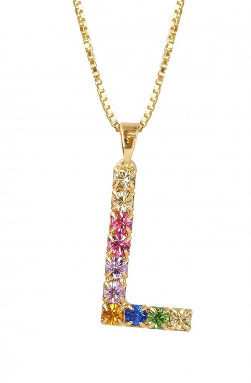 CAROLINE SVEDBOM - LETTER NECKLACE GOLD L 50 CM