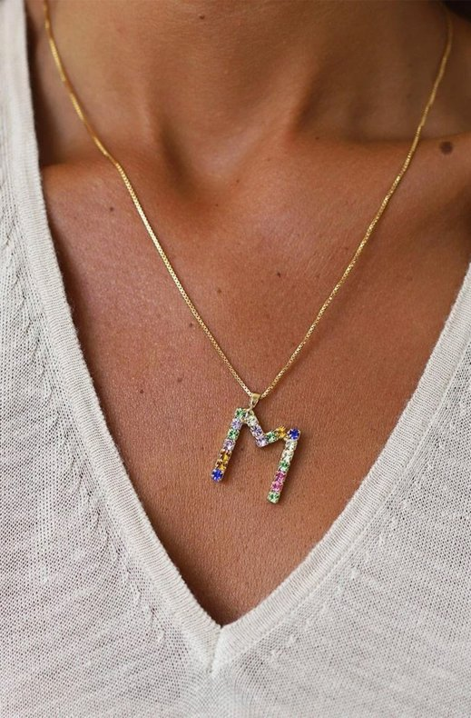 CAROLINE SVEDBOM - LETTER NECKLACE GOLD M 50 CM