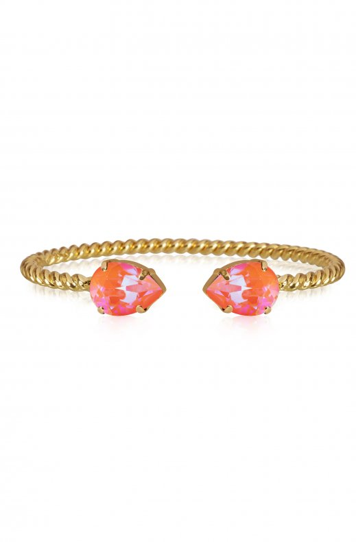 Caroline Svedbom - Mini Drop Bracelet - Gold Orange Glow Delite