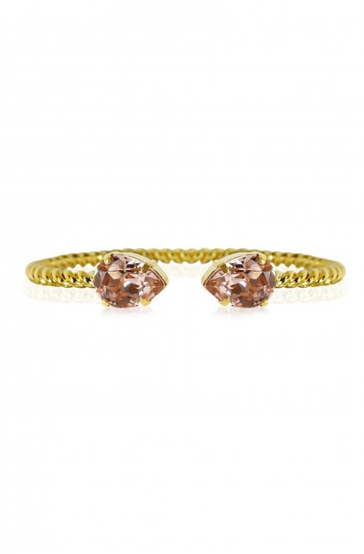 CAROLINE SVEDBOM - Mini Drop Bracelet Gold/vintage rose
