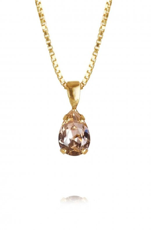 Caroline Svedbom - Petite Drop Necklace Gold Vintage Rose
