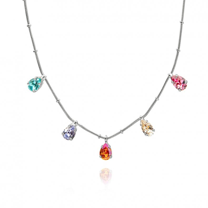 Caroline Svedbom- Estelle Necklace - Rhodium Rainbow
