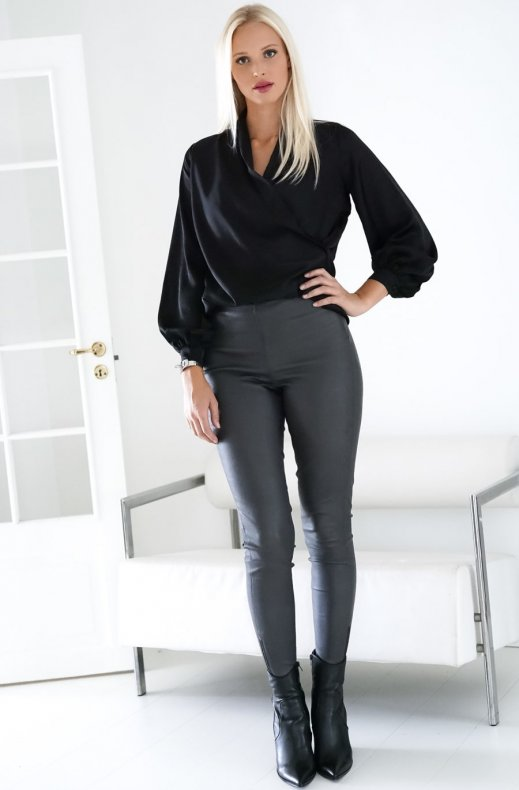 Fine Copenhagen - Kelly Wrap Blouse/Top Black