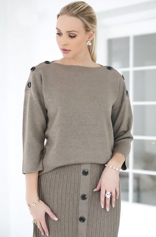 Freequent - Ani Pullover Desert Taupe Melange
