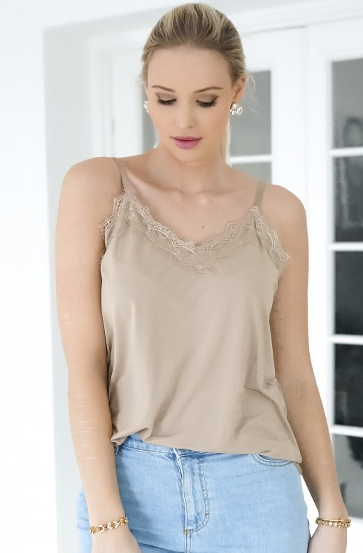 Freequent - Bicco strap top beige