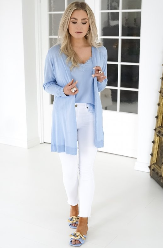 Freequent - Elina Cardigan - Chambray Blue