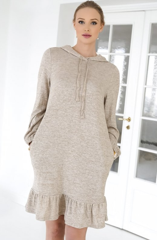 Freequent - Livana Dress Beige Sand