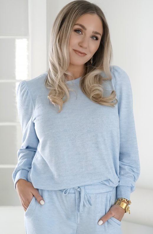 Freequent - Livana Pullover Chambray Blue