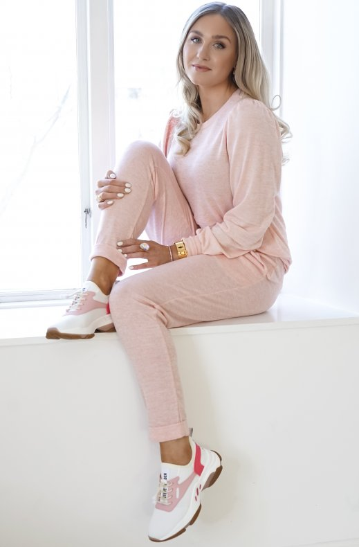 Freequent - Livana Pullover Silver Pink