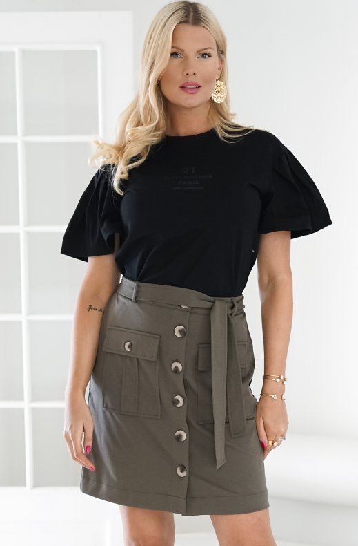 Freequent - Nanni Cargo Skirt Olive Night