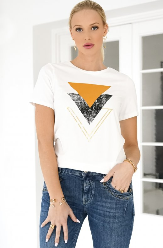 FREEQUENT – NOLA TEE TRIANGLE OFFWHITE
