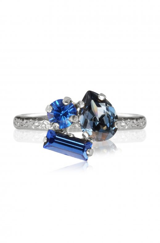 CAROLINE SVEDBOM - ISA RING RHODIUM BLUE