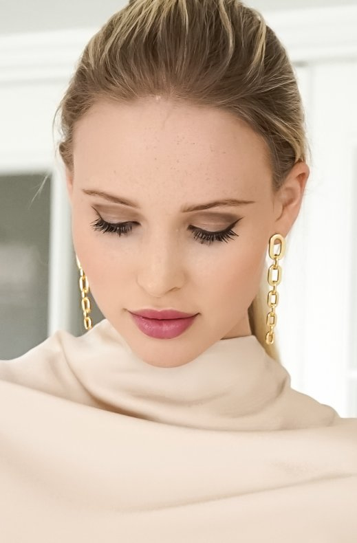 Jane and Sophie - Chain Earrings - Gold