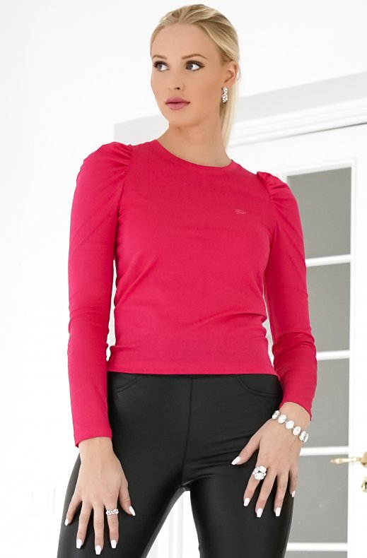 KARL LAGERFELD – PUFFY LONG SLEEVE TOP FUCHSIA