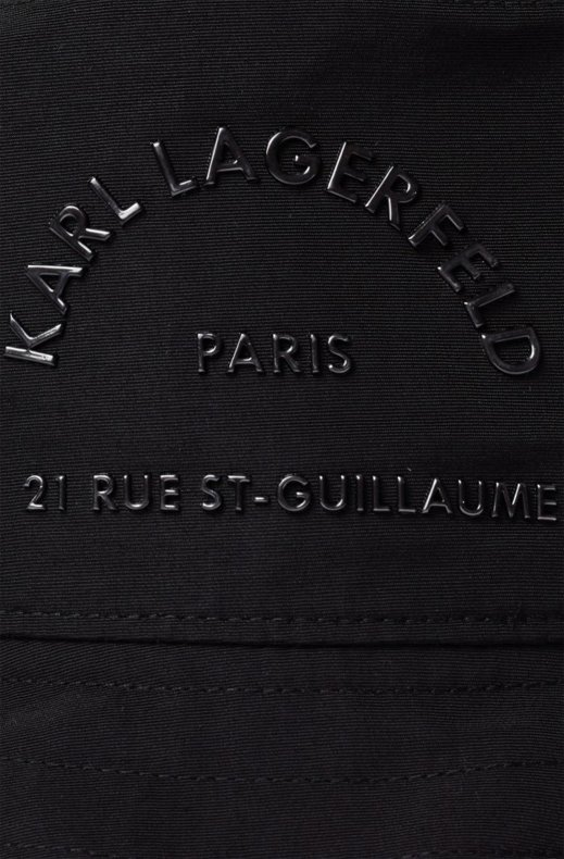 KARL LAGERFELD – RUE ST GUILLAUME BUCKET HAT BLACK