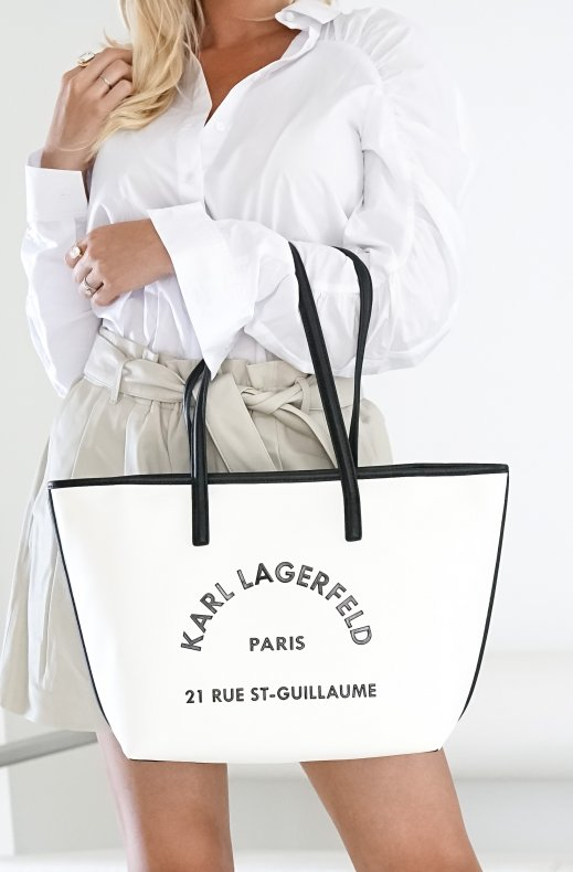 Karl Lagerfeld - Rue St Guillaume Leather Tote White