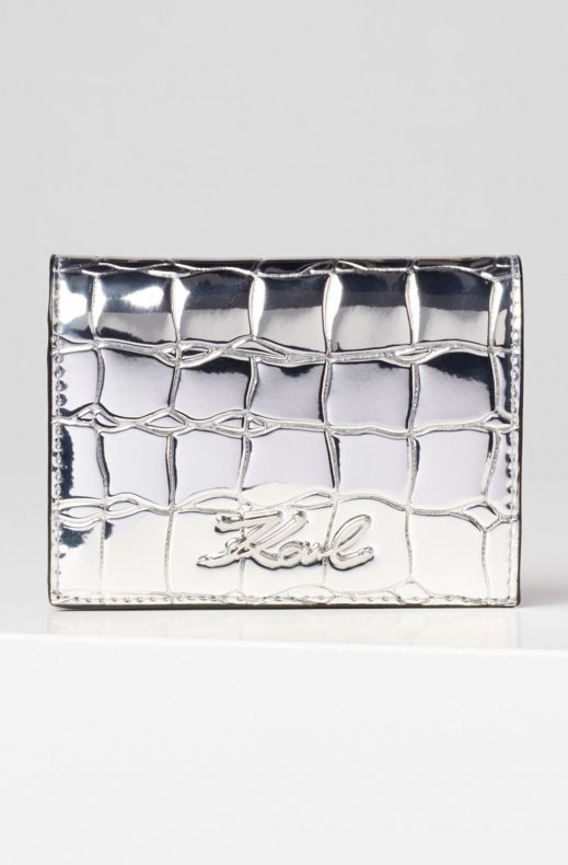 KARL LAGERFELD – SIGNATURE FOLD WALLET SILVER