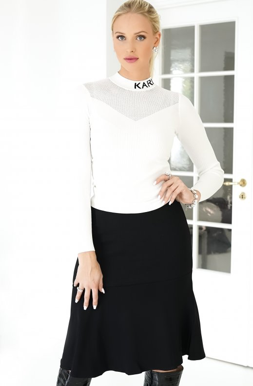 KARL LAGERFELD – KNIT CADY MIX SKIRT