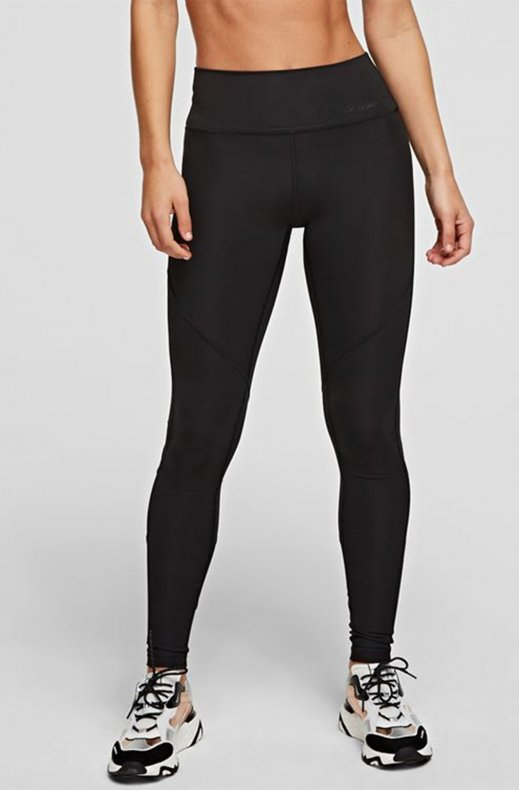 Karl Lagerfeld -Technical Leggings With Power Mesh - Black