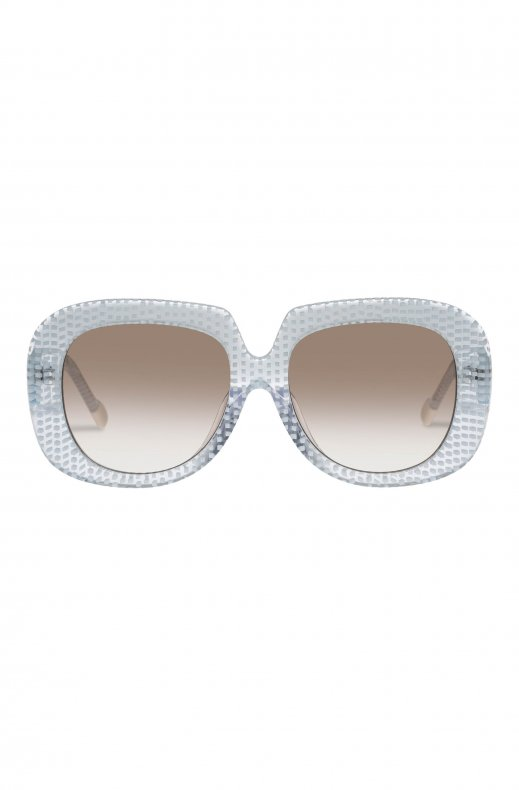 Le Specs - Bed of Roses Handmade - Blue Dot Matrix with Brown Grad Lens