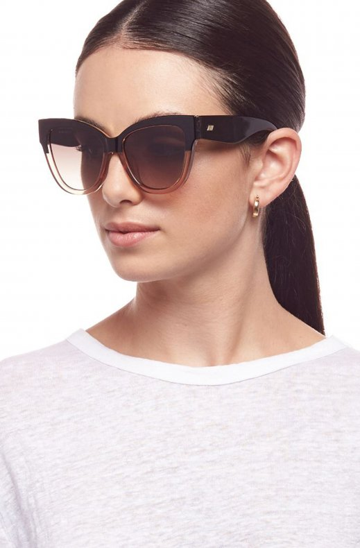 Le Specs - Vacanze Black Blond Splice - Gold with Khaki