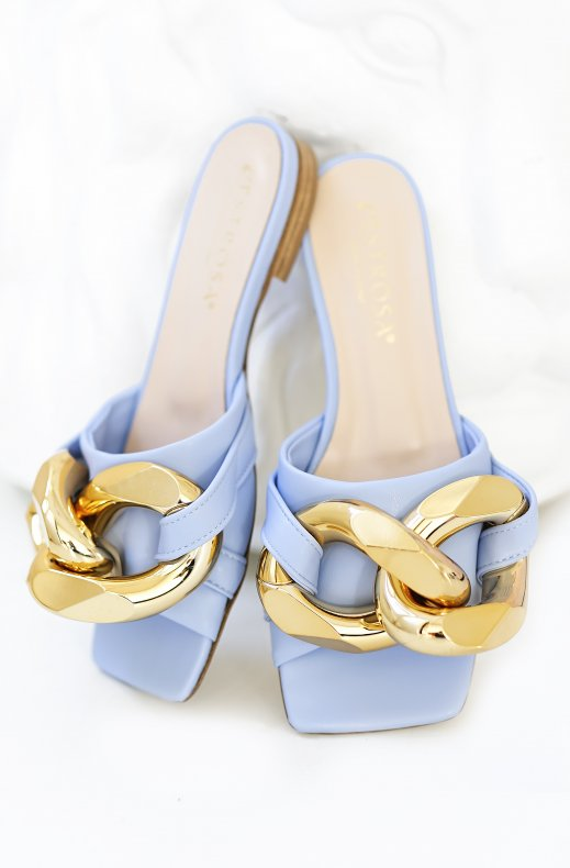 Lestrosa - Sandal with Chain 585 - Light Blue