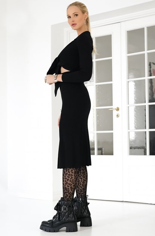 Adoore - Riviera Knitted Dress Black