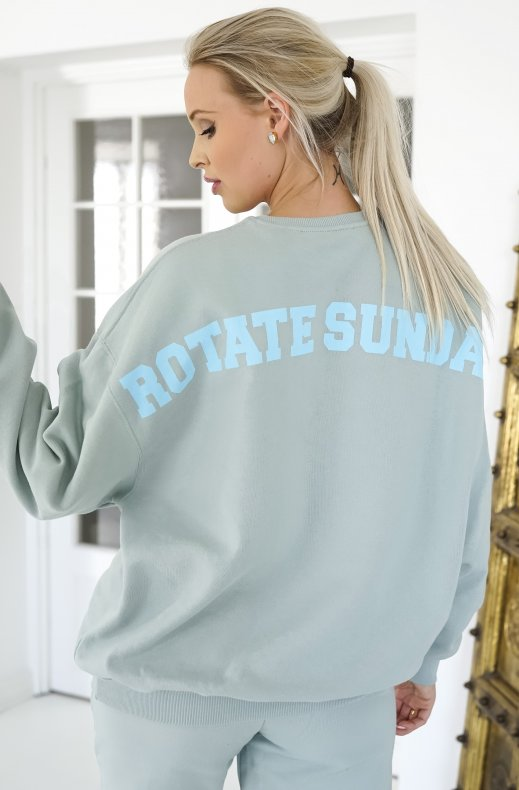 Rotate Sunday - Iris Crewneck - Blue Surf