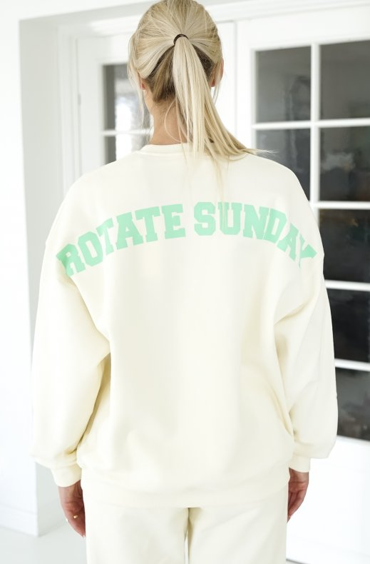 Rotate Sunday - Iris Crewneck - White