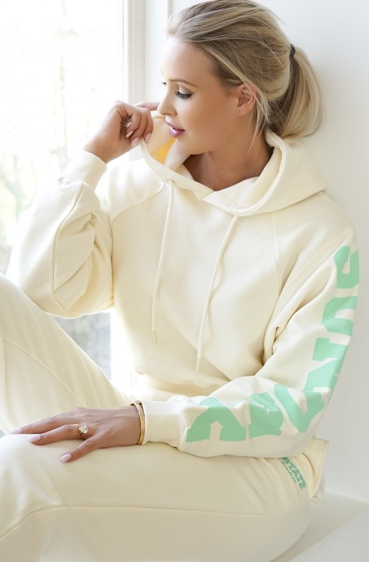 Rotate Sunday - Viola Cropped Hoodie - White
