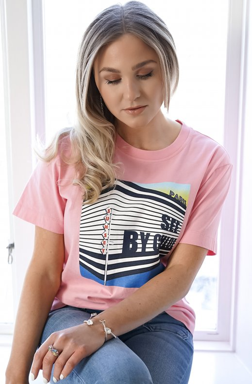 See by Chloé - Sunset Building T-shirt - Quartz Pink