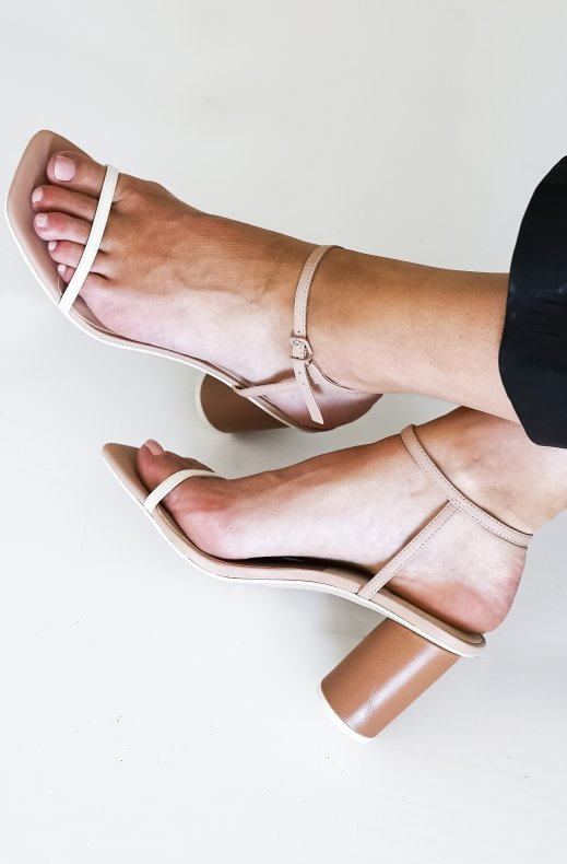 Steve Madden - Naomey Nude Leather Heels