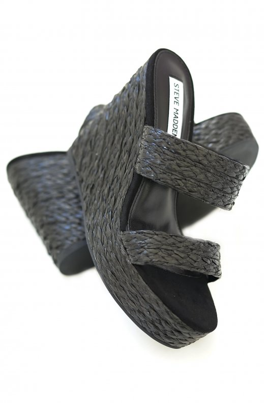 Steve Madden - Sunflower Wedge Sandal Black