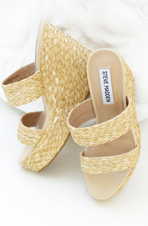 Steve Madden - Sunflower Wedge Sandal Natural