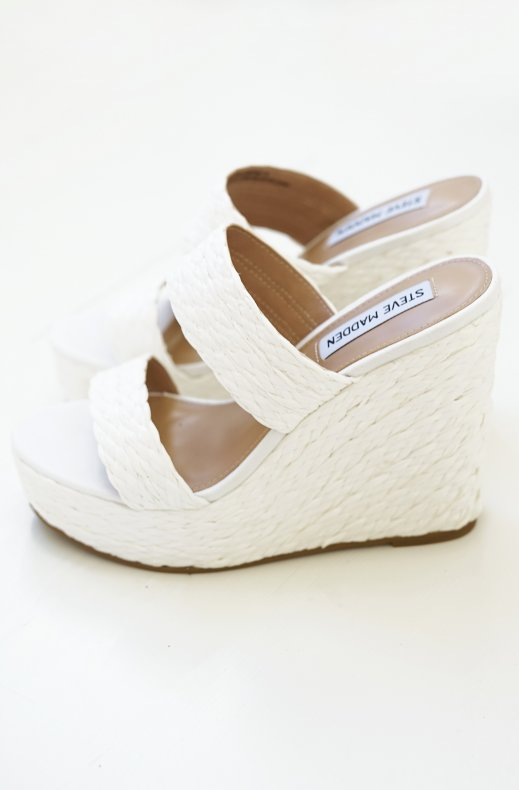 Steve Madden - Sunflower Wedge Sandal White